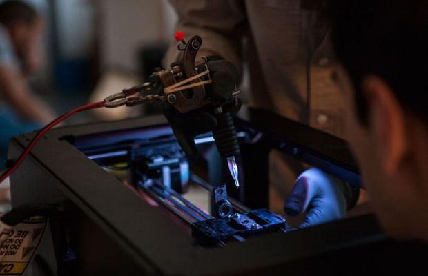 Teste Impressão 3D - Tatuagem - Caneta