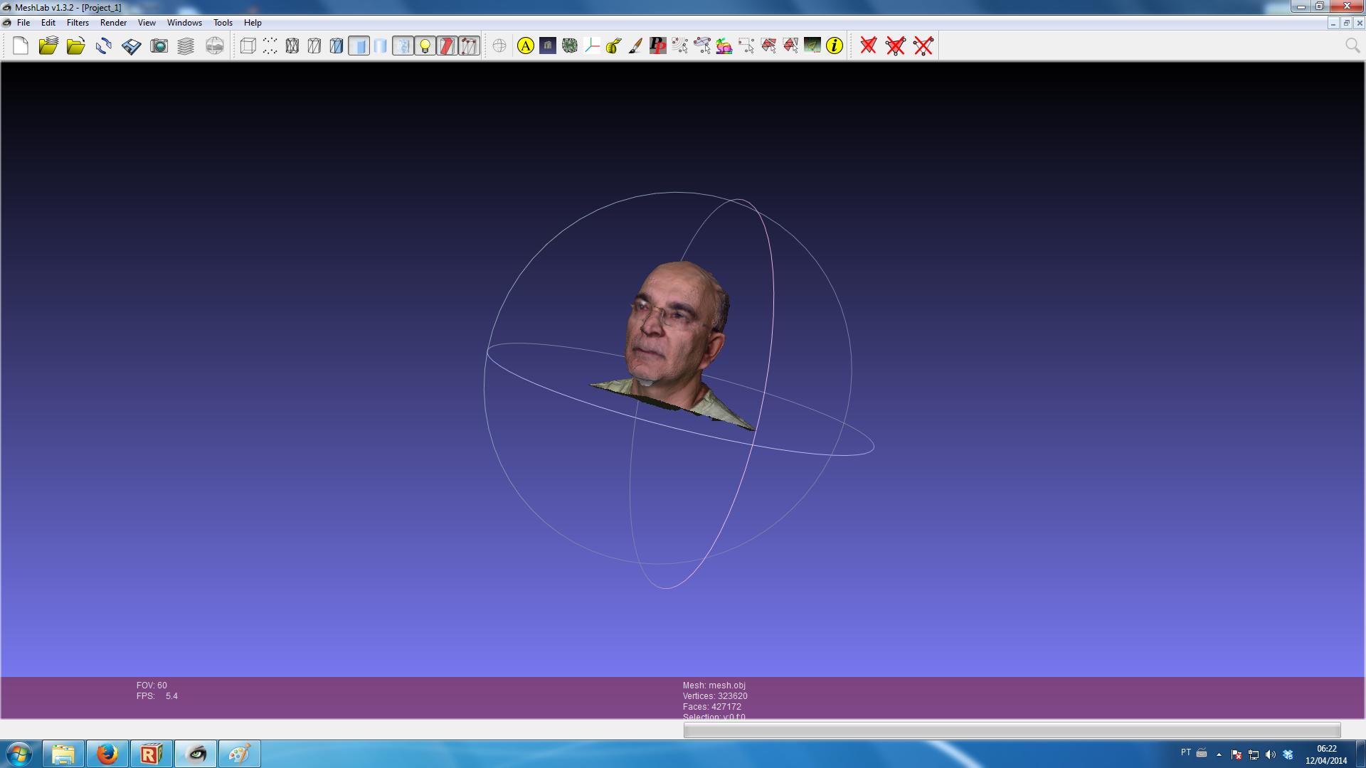 Meshlab Impressão 3D