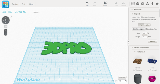 Tinkercad 2D to 3D